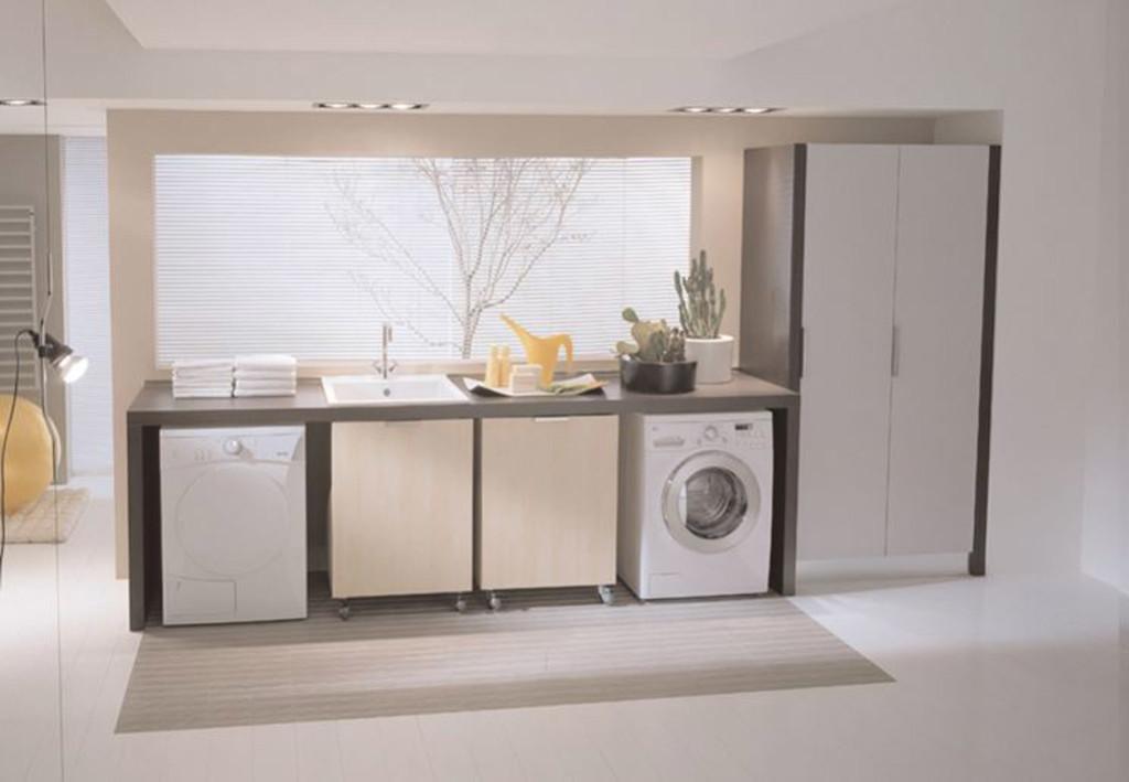 Zona lavanderia in bagno consigli per l arredo blog stile bagno - Lavanderia in casa ...