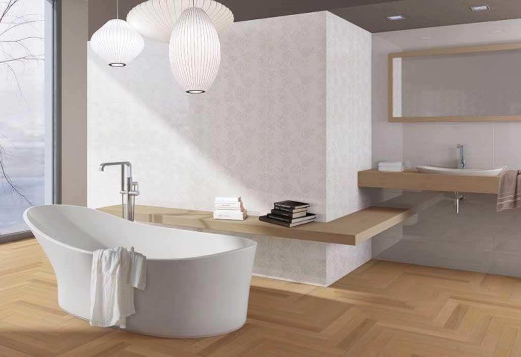 Cosa intendiamo per arredamento moderno blog stile bagno - Bagno con parquet ...