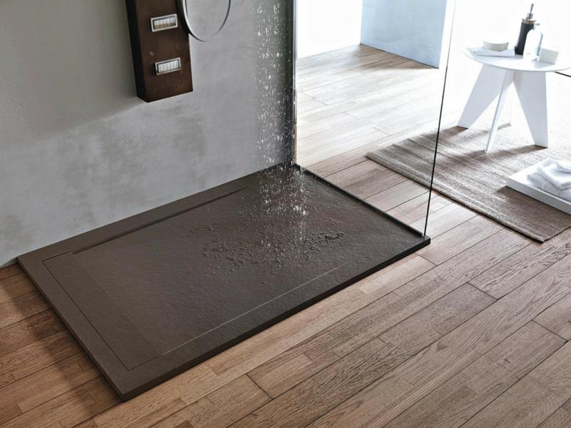Piatti doccia mineralmarmo effetto pietra ardesia scopri for Design moderno della fattoria