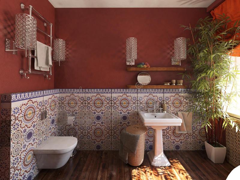 Piastrelle bagno stile marocco: piastrelle effetto carta da parati