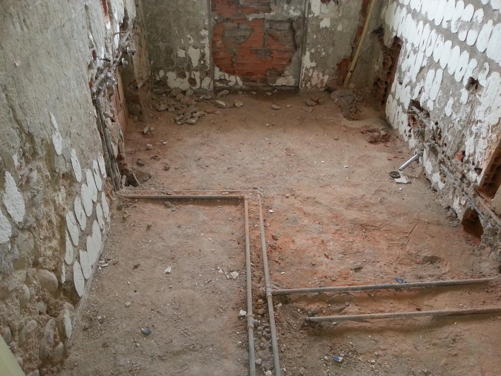 Demolizione del bagno