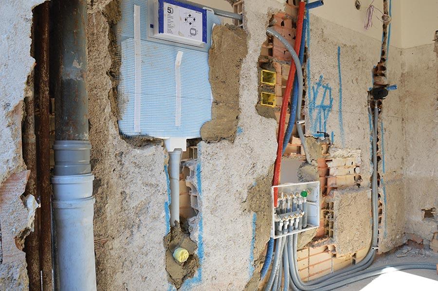 Installazione degli impianti nel bagno