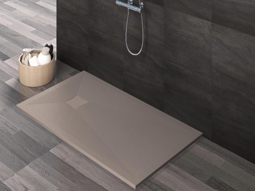 Piatto doccia in Mineralmarmo effetto Pietra - Colore Sabbia