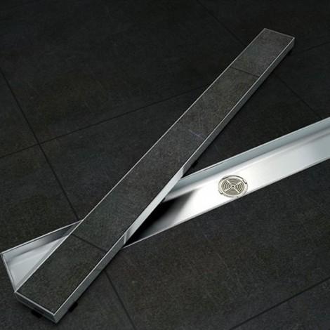 Canalina di scarico doccia piatrellabile in acciaio inox