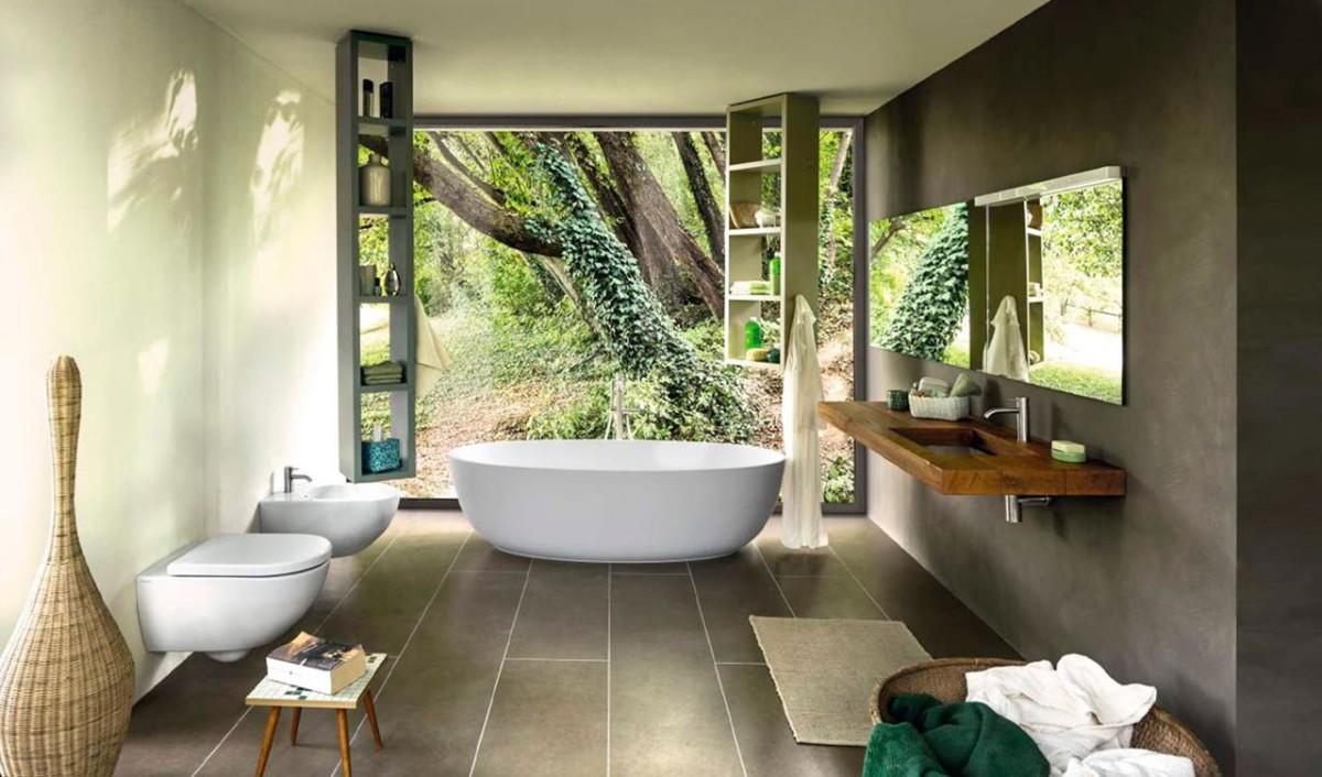 Un bagno in stile green per rispettare il nostro ambiente