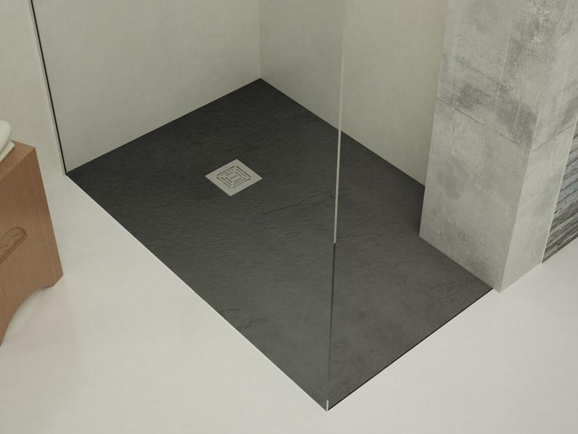 Esempio di una doccia a filo pavimento idelae per eliminare e barriere architettoniche e permettere a tutti di utilizzare il bagno